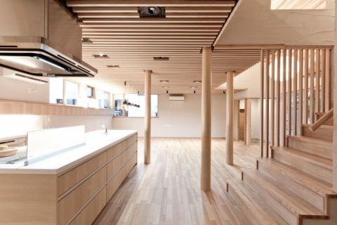 客厅楼梯日式风格装潢效果图