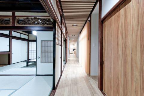 客厅走廊日式风格装修图片