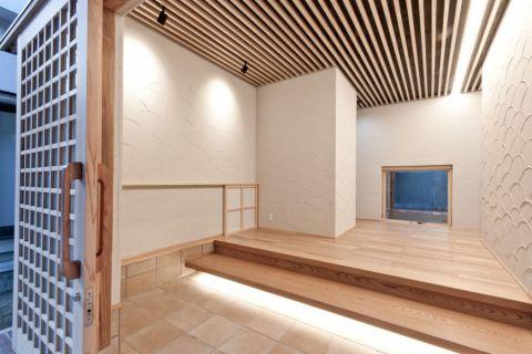 玄关地砖日式风格装潢图片