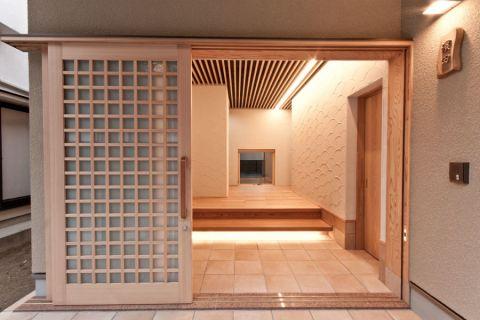 客厅推拉门日式风格装修设计图片