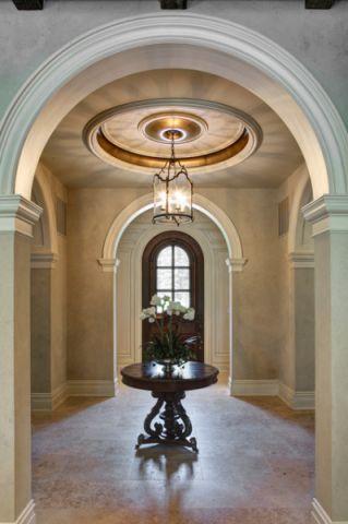 玄关门厅地中海风格装潢效果图