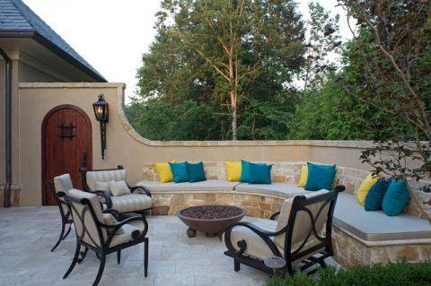 阳台茶几地中海风格装修设计图片