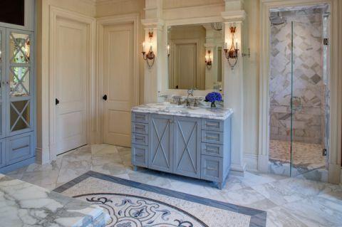 浴室细节地中海风格装潢设计图片