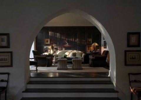 客厅门厅混搭风格装修设计图片