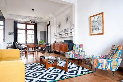 客厅北欧风格效果图大全2017图片_土拨鼠时尚温馨客厅北欧风格装修设计效果图欣赏