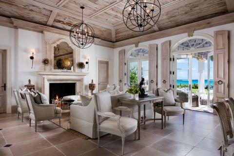 客厅地中海风格效果图大全2017图片_土拨鼠美感清新客厅地中海风格装修设计效果图欣赏