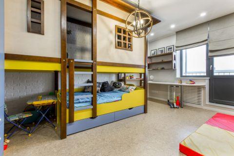 儿童房现代风格效果图大全2017图片_土拨鼠简洁温馨儿童房现代风格装修设计效果图欣赏