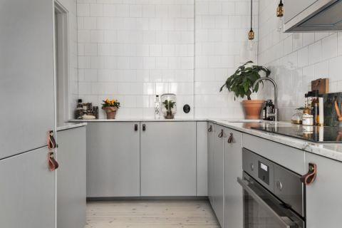 厨房北欧风格效果图大全2017图片_土拨鼠古朴舒适厨房北欧风格装修设计效果图欣赏
