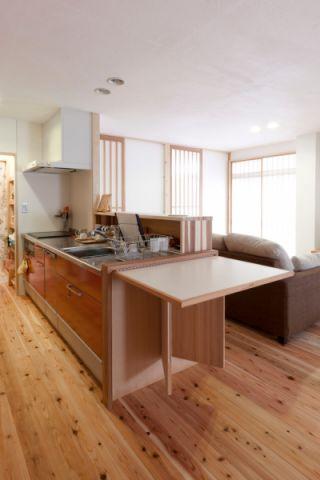 厨房日式风格效果图大全2017图片_土拨鼠温馨摩登厨房日式风格装修设计效果图欣赏