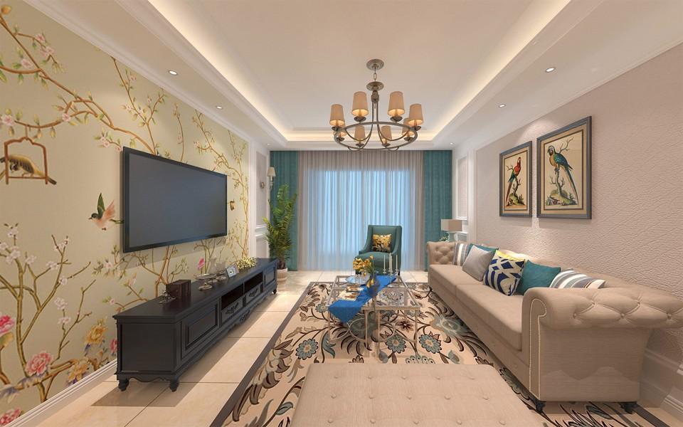 4室2卫2厅136平米美式风格
