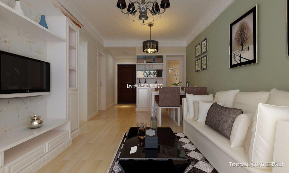 合肥通和易居80平方現代簡約二居室裝修案例
