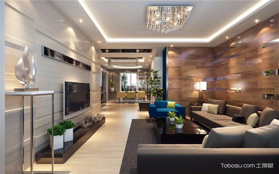 凯旋门现代简约风格三居室装修效果图