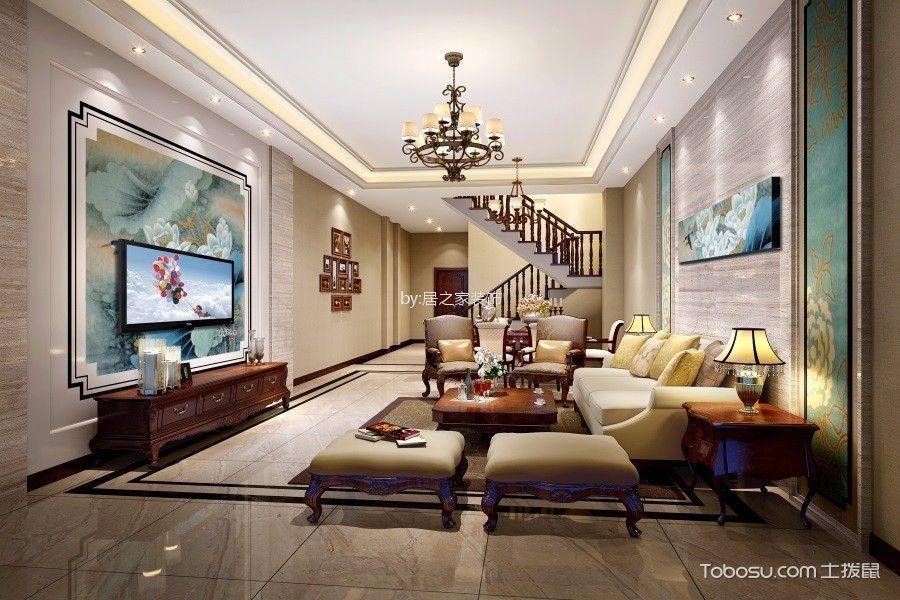 龙城小区167㎡中式风格四室两厅一卫装修效果图