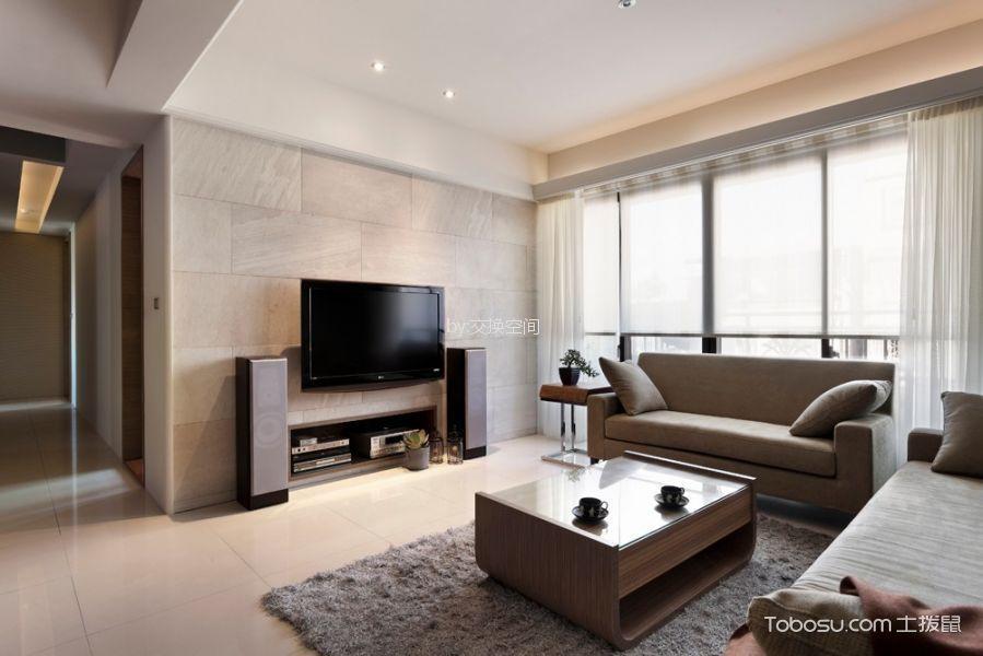 100平简约风格二居室装修效果图