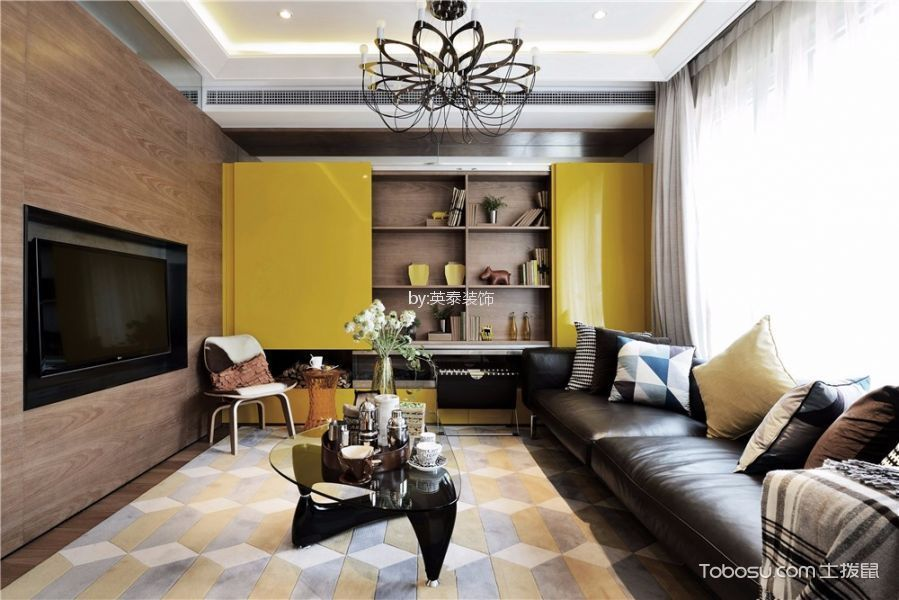 君悦府两房loft现代风格复式装修效果图