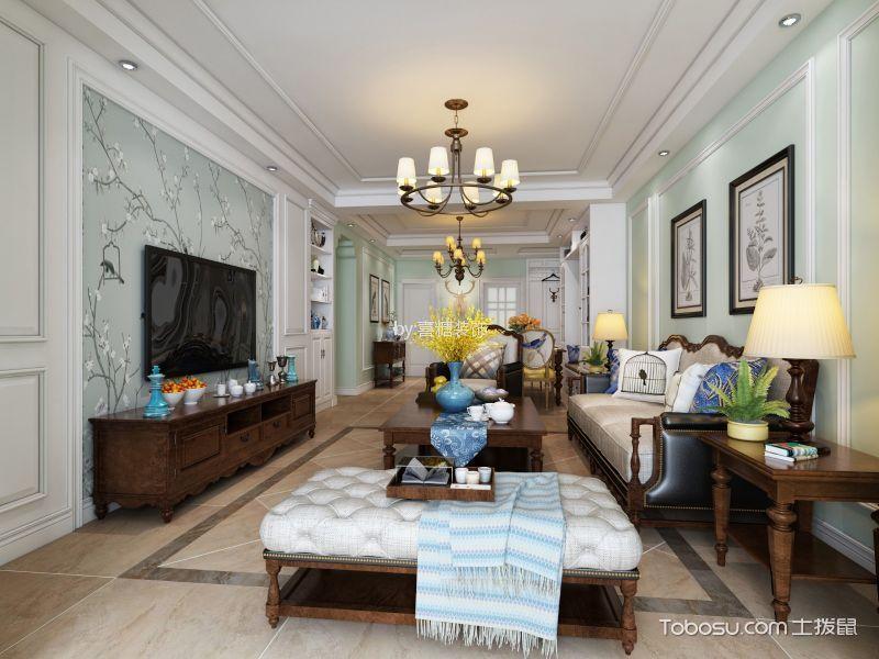 海马公园美式风格三居室装修效果图