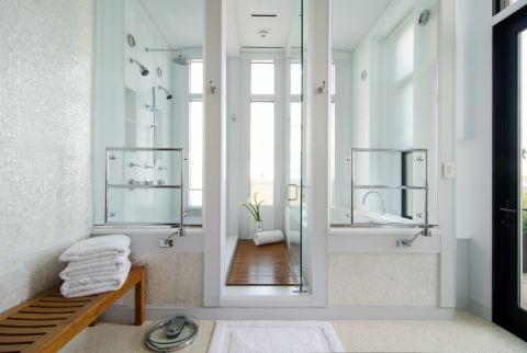浴室简欧风格效果图大全2017图片_土拨鼠大气时尚浴室简欧风格装修设计效果图欣赏