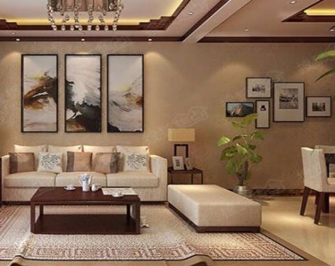 德馨园66平米新中式二居室装修效果图