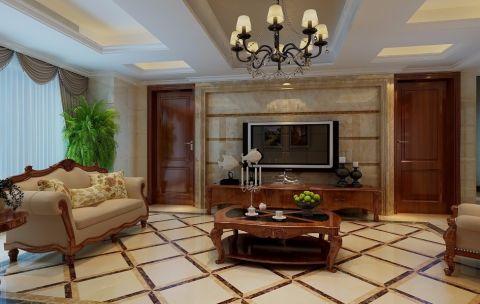 上海公館119平方三居室美式風格裝修效果圖