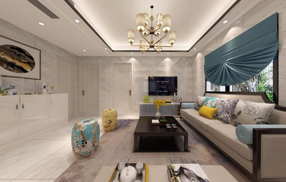 2室1卫2厅100平米新中式风格