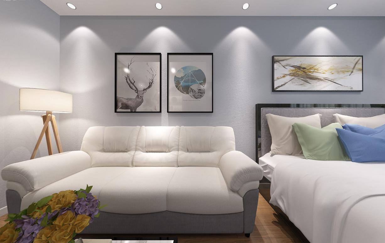 1室1卫2厅55平米现代风格