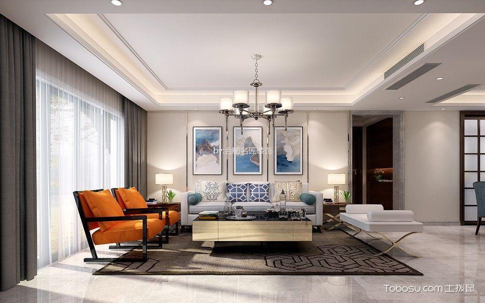 万达文旅城揽湖苑140平方三室两厅现代风格装修效果图