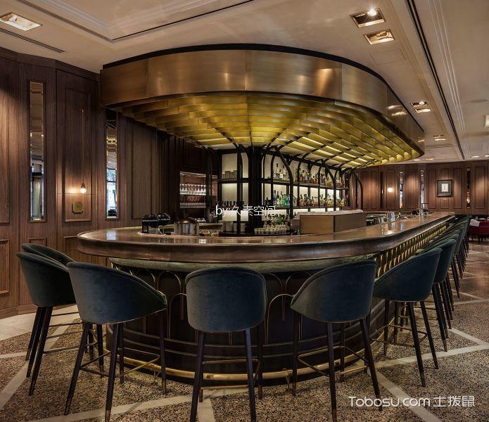 酒吧餐厅吧台区吊顶装修图片