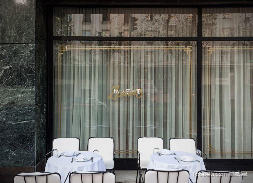 酒吧餐厅等位区落地窗装修图片