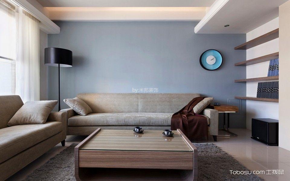 世纪紫缘公寓126平现代简约风格三居室装修效果图