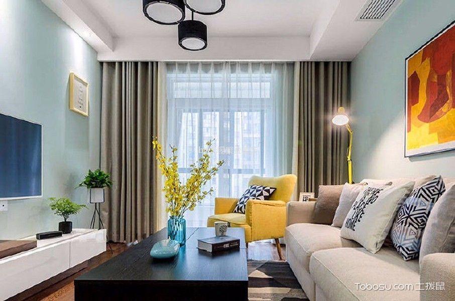 金科米兰90平北欧风格二居室装修效果图