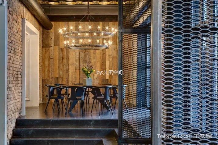咖啡厅茶水区黑色桌椅装修图片