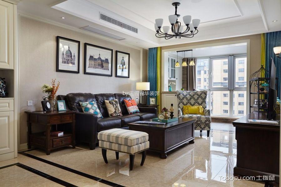 维纳阳光130平米美式风格三居室装修效果图