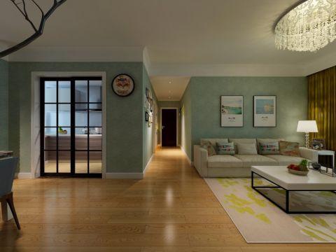 客厅背景墙混搭风格装饰效果图
