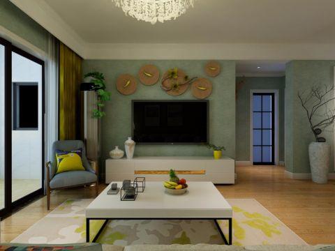 合肥万达文化旅游城100平米混搭风格三居室装修效果图