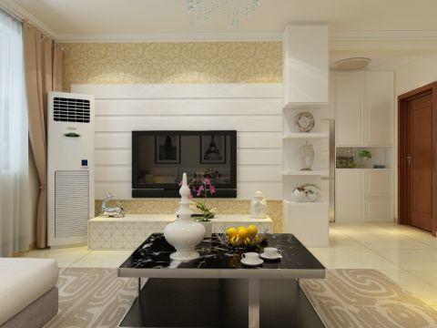 和平大院127平三居室现代简约装修效果图