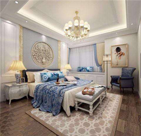卧室床头柜混搭风格装潢效果图