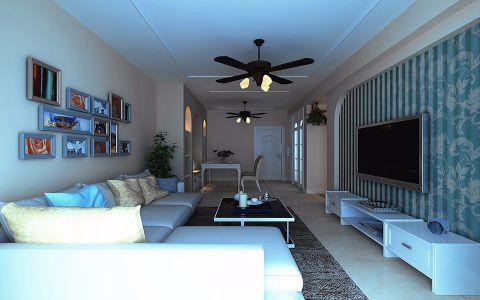 琥珀五环城110平地中海风格三居室装修效果图