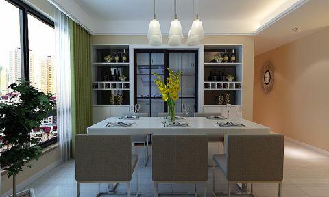 餐厅博古架现代简约风格装修设计图片
