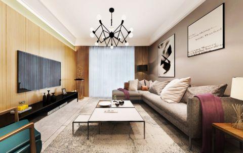 中海龙城公馆 112平米现代风格三居室装修效果图