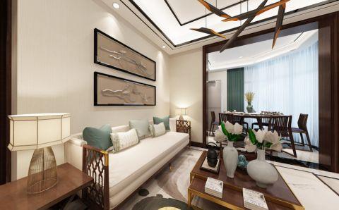 红梅西村75平米中式风格两居室装修效果图
