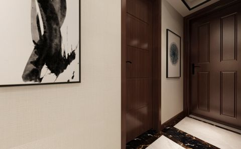 玄关走廊中式风格装潢设计图片