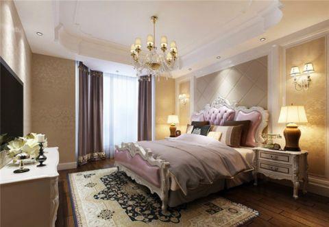卧室床头柜欧式风格装潢效果图