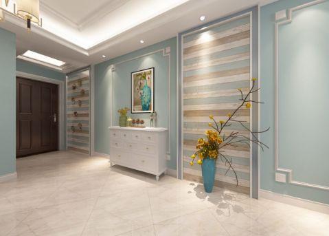 龙湖花千树88平米美式风格三居室装修效果图