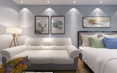雅居乐星河湾55平米港式现代风格一居室装修效果图