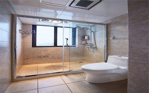 卫生间隐形门美式风格装潢效果图