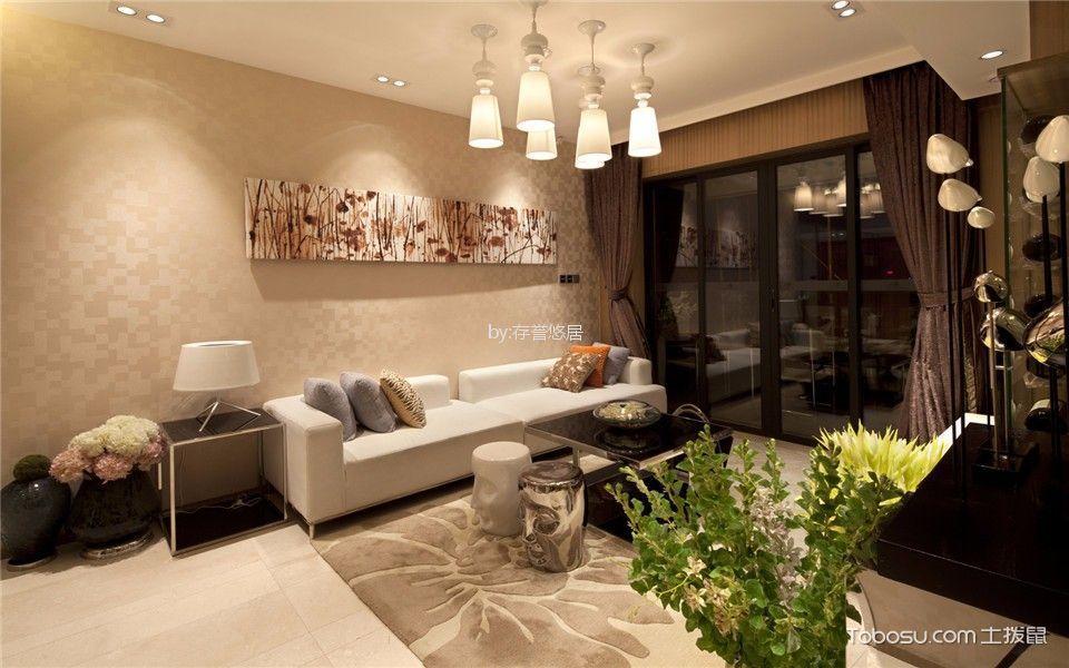 绿地香颂140平米现代简约风格二室装修效果图