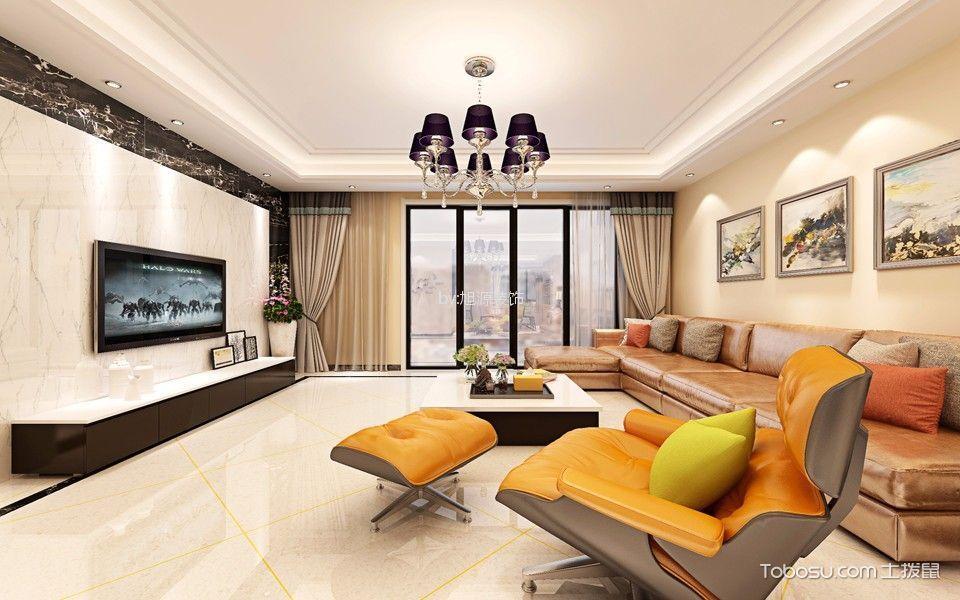 金谷苑118平米现代三居装修效果图