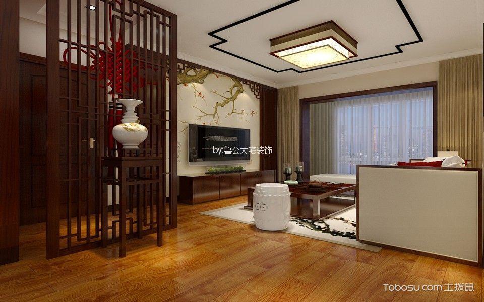海亮艺术华府118平新中式风格三居室装修效果图