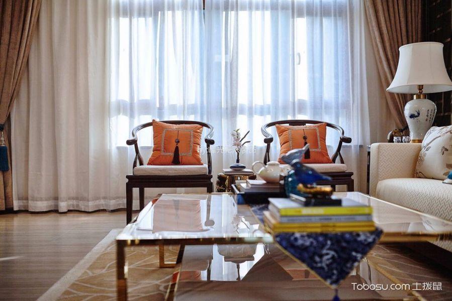 客厅橙色茶几新古典风格效果图
