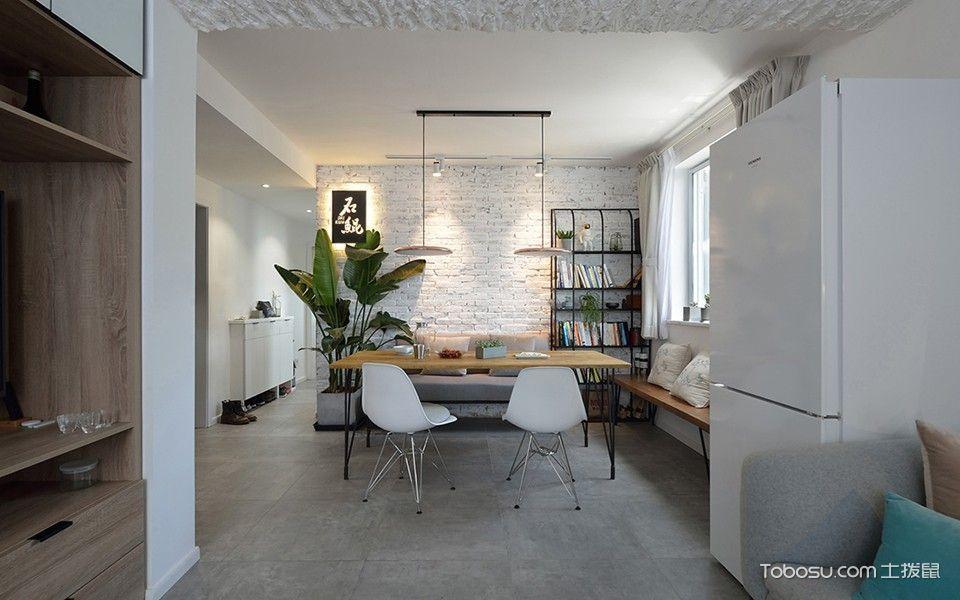 虹苑小区70平方北欧风格两居室效果图